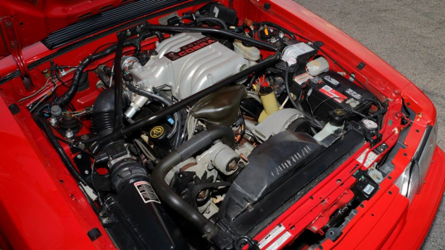 1993 Ford Mustang SVT Cobra-R cars red wallpaper
