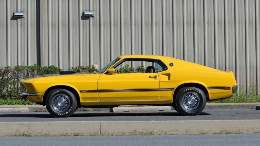 1969 FORD MUSTANG MACH-1 FASTBACK cars yellow wallpaper