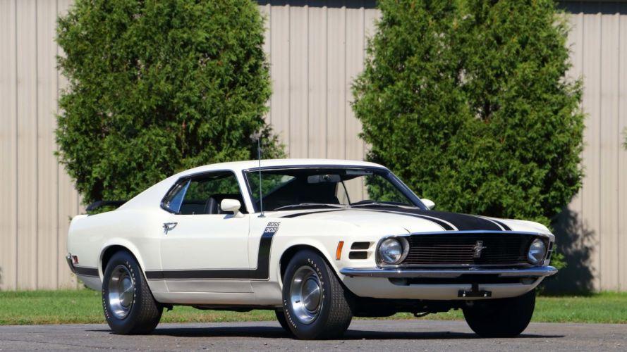 1970 FORD MUSTANG BOSS 302 FASTBACK cars white wallpaper