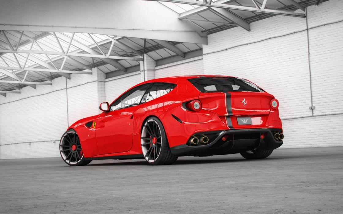 Wheelsandmore Ferrari-FF cars red modified wallpaper