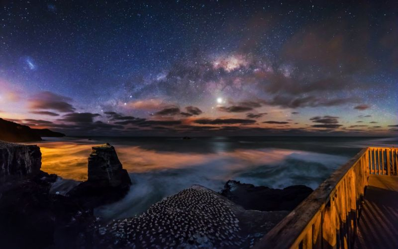 landscape nature beauty peacefull universe stars sky wallpaper