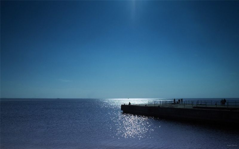 natural landscape beautiful dock of natural scenery blue sea ocean wallpaper