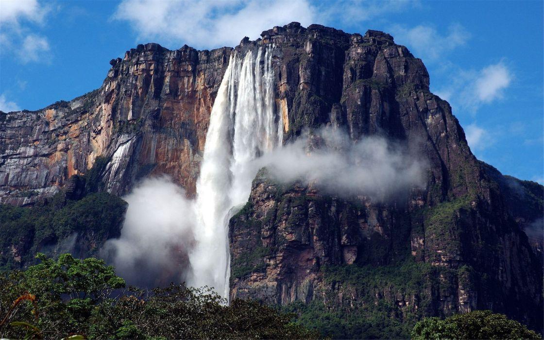 Beautiful natural waterfull mountain wallpaper