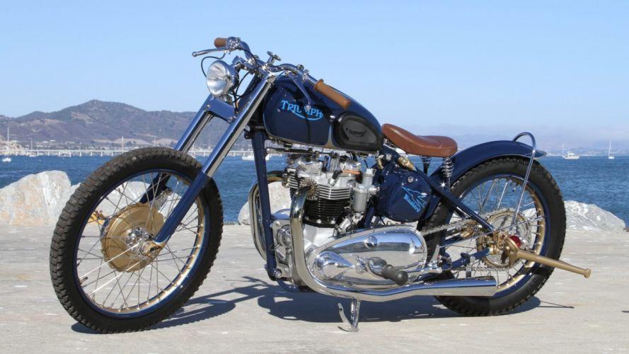1952 Triumph Thunderbird motorcycles wallpaper