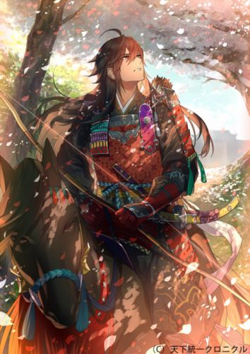 CyberAgent Tenka Touitsu Chronicle anime video games anime character guy horse wallpaper