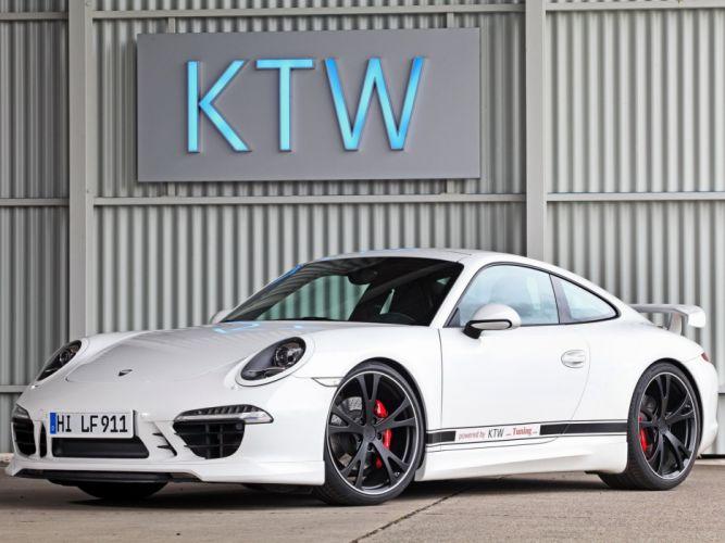 KTW Tuning Porsche 911 Carrera S Coupe (991) cars white modified 2013 wallpaper