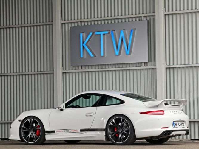KTW Tuning Porsche 911 Carrera S Coupe (991) cars white modified 2013 wallpaper