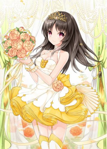 anime girl cute flower long hair beautiful wallpaper