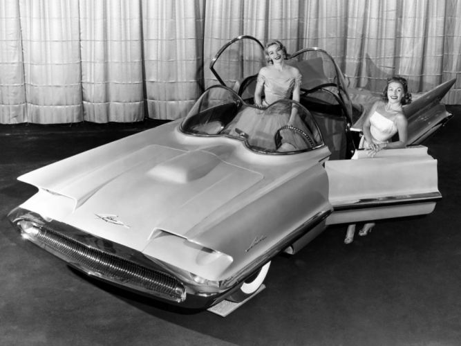 Lincoln Futura Concept Car 1955 wallpaper