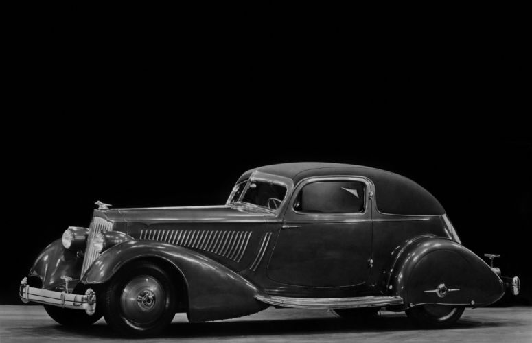 Packard Twelve Sport Coupe by LeBaron 1934 wallpaper