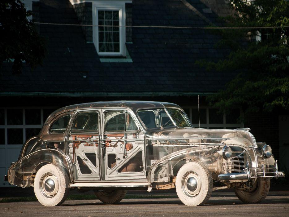 Pontiac DeLuxe Six Transparent Display Car 1940 wallpaper