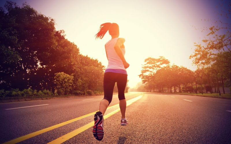 Running exercise sunlight spor morning wallpaper
