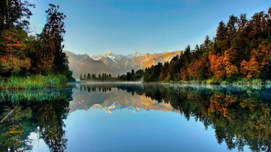 New Zealand South Island Landscape lake beauty wallpaper