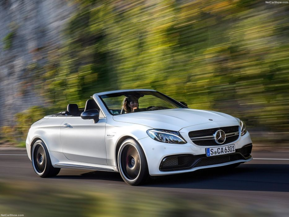 2016 amg benz c63 cabriolet cars mercedes white wallpaper