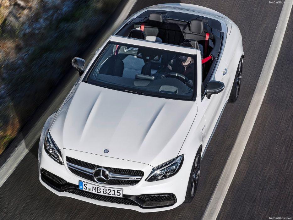 2016 amg benz c63 cabriolet cars mercedes white wallpaper