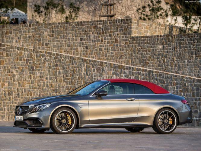 2016 amg benz c63 cabriolet cars mercedes silver wallpaper