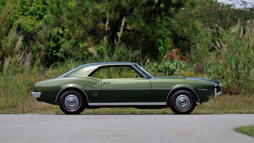 1968 PONTIAC FIREBIRD RAM AIR-II cars coupe GREEN wallpaper