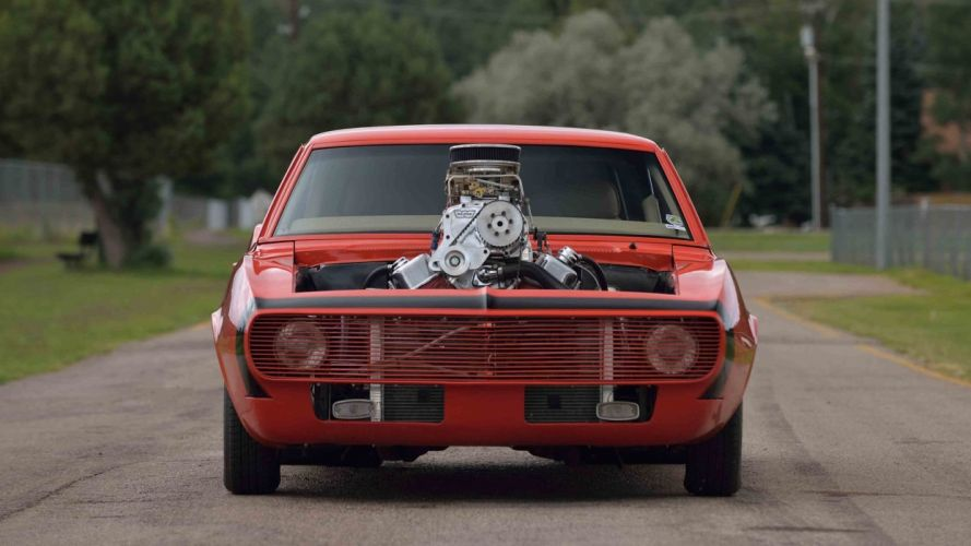1968 CHEVROLET CAMARO PRO STREET cars Supercharged wallpaper