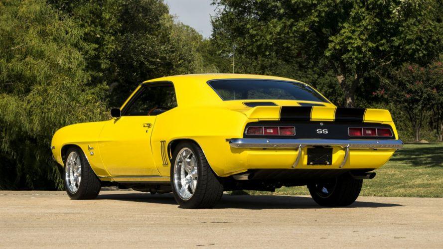 1969 CHEVROLET CAMARO RESTO MOD cars yellow wallpaper