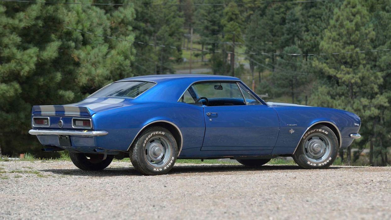 1967 CHEVROLET CAMARO cars blue wallpaper