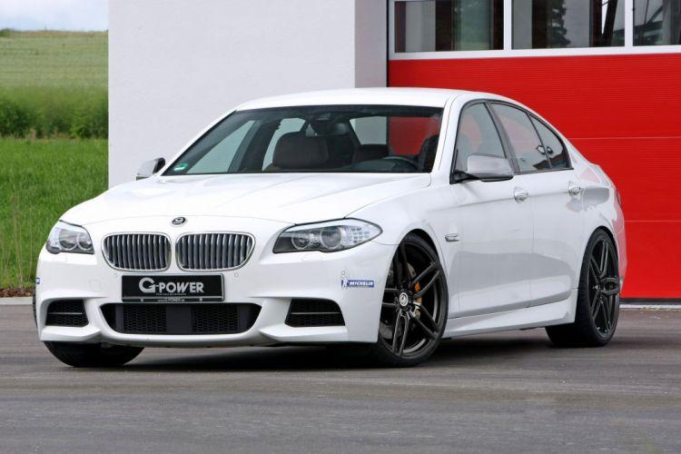 G-Power BMW M550d cars sedan white modified wallpaper