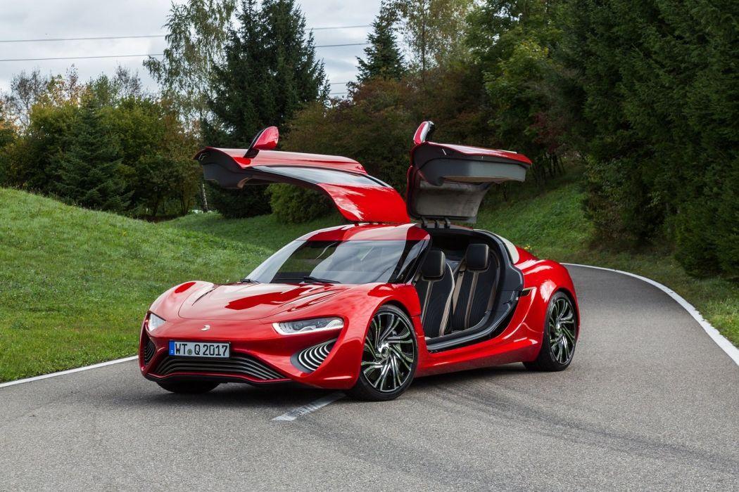 NanoFlowcell QUANT-F cars electric red 2015 wallpaper