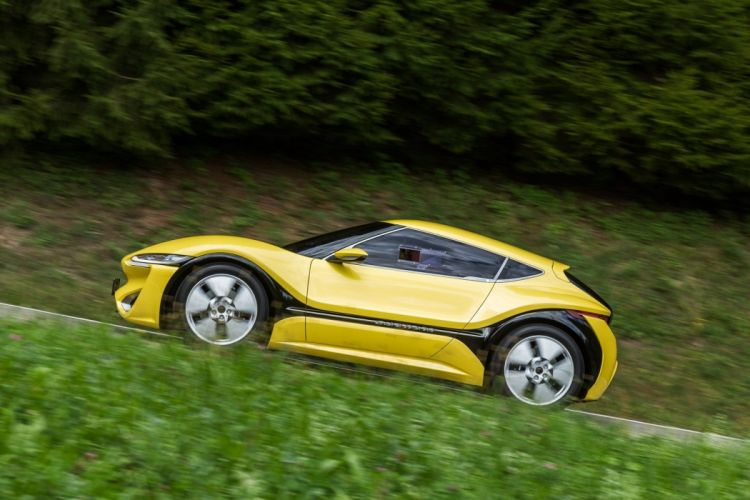 NanoFlowCell Quantino cars electric yellow 2015 wallpaper