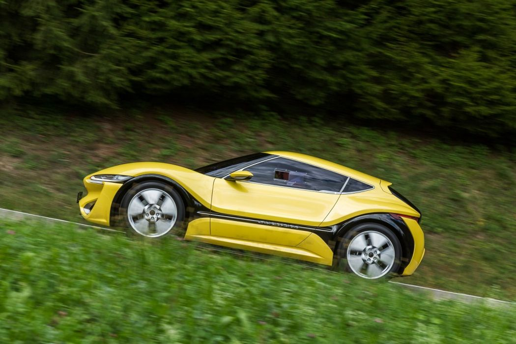 NanoFlowCell Quantino cars electric yellow 2015 wallpaper