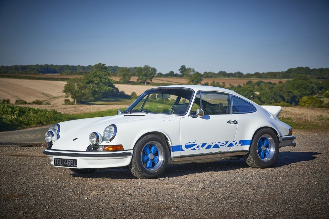 Porsche 911 Carrera RS-2 7 Touring UK-spec cars white 1972 wallpaper