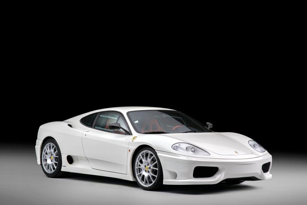 Ferrari 360 Challenge Stradale cars white 2003 wallpaper