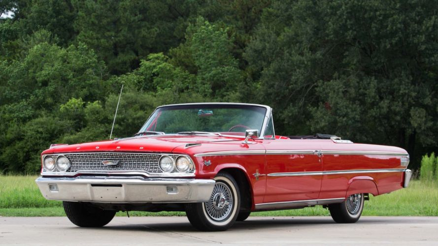 1963 FORD GALAXIE 500-XL CONVERTIBLE classic red wallpaper