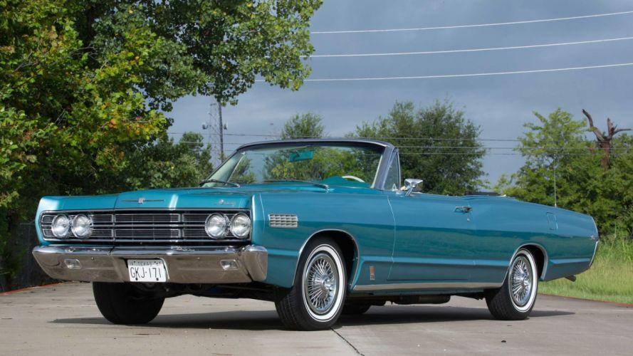 1967 MERCURY MONTEREY S-55 CONVERTIBLE cars classic blue wallpaper