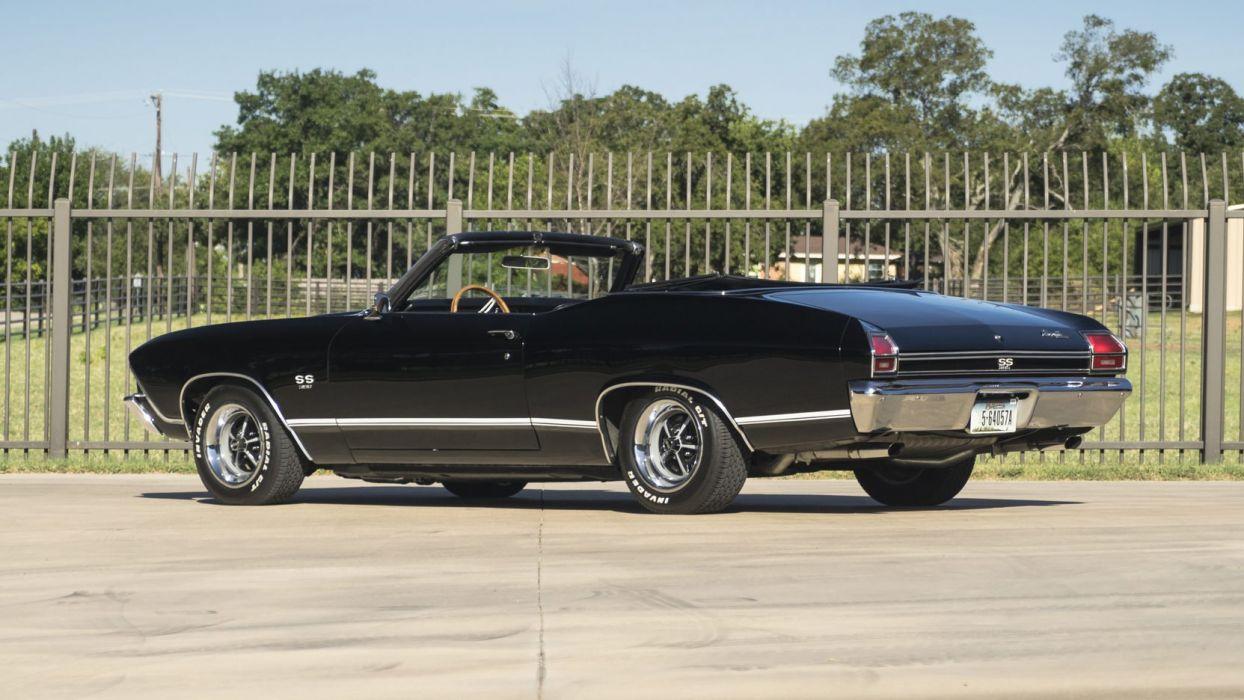 1969 CHEVROLET CHEVELLE CONVERTIBLE cars classic black wallpaper