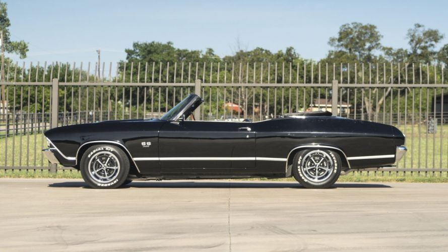 1969 CHEVROLET CHEVELLE CONVERTIBLE cars classic black wallpaper