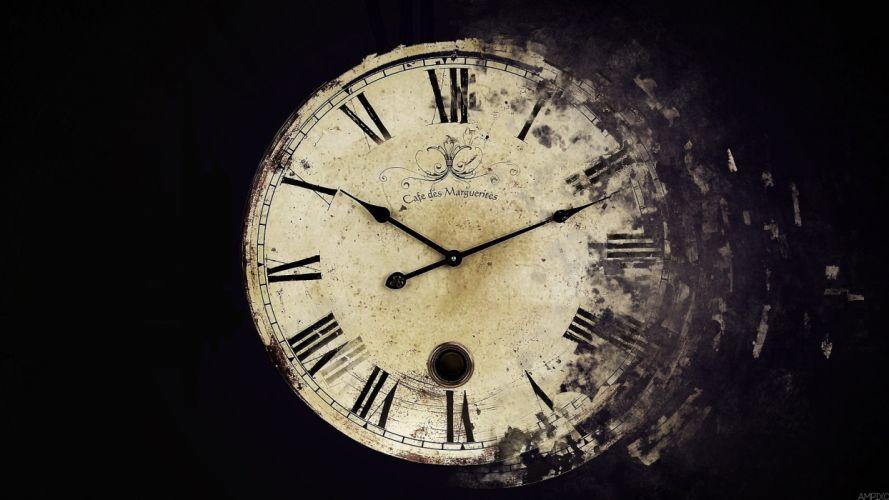 clocks old time wallpaper
