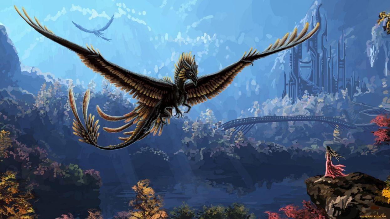 Dragon flight cool fantasy  wallpaper