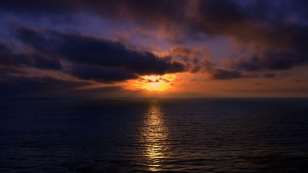 Sunset ocean brazilian sunset sky  wallpaper