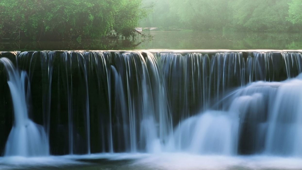 Waterfal nature forest  wallpaper