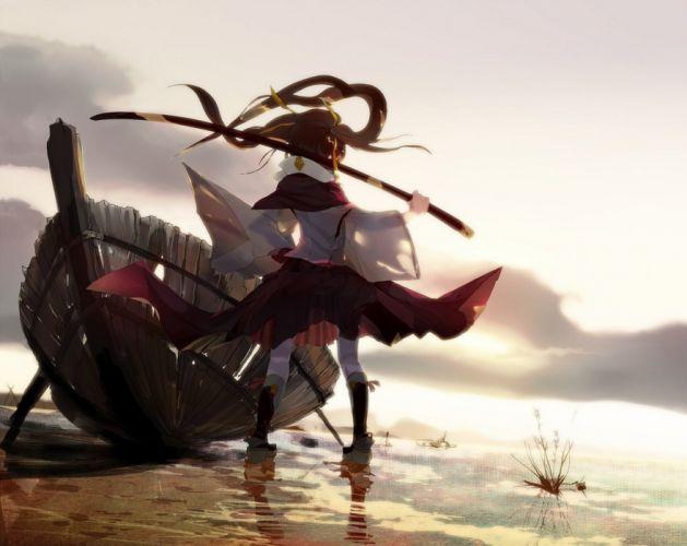 anime girl katana original characters wallpaper