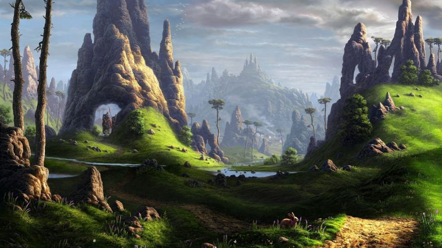 Landscape fantasy art wallpaper