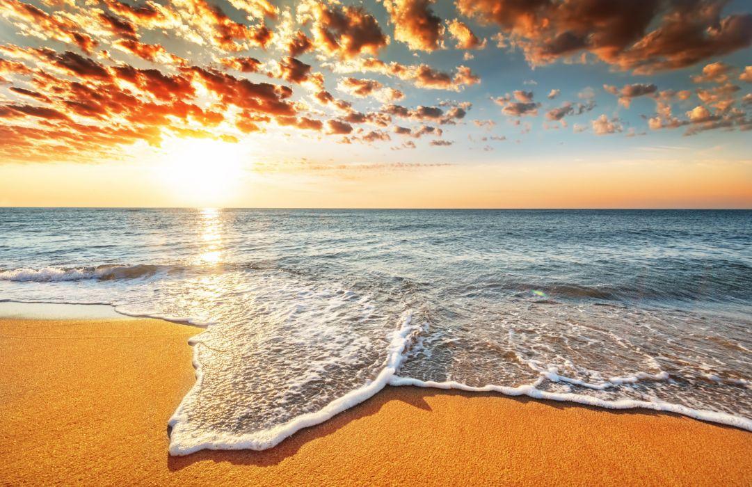 sea beach Sun wallpaper
