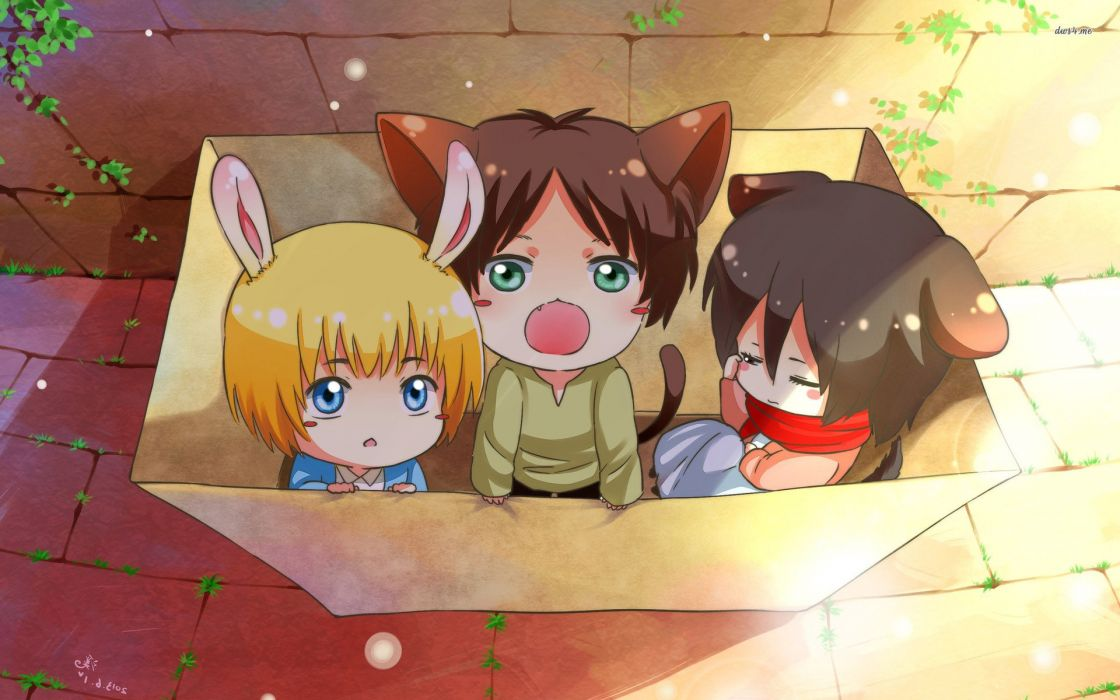 Attack On Titan Anime Cute Wallpaper 1920x1200 1027638 Wallpaperup