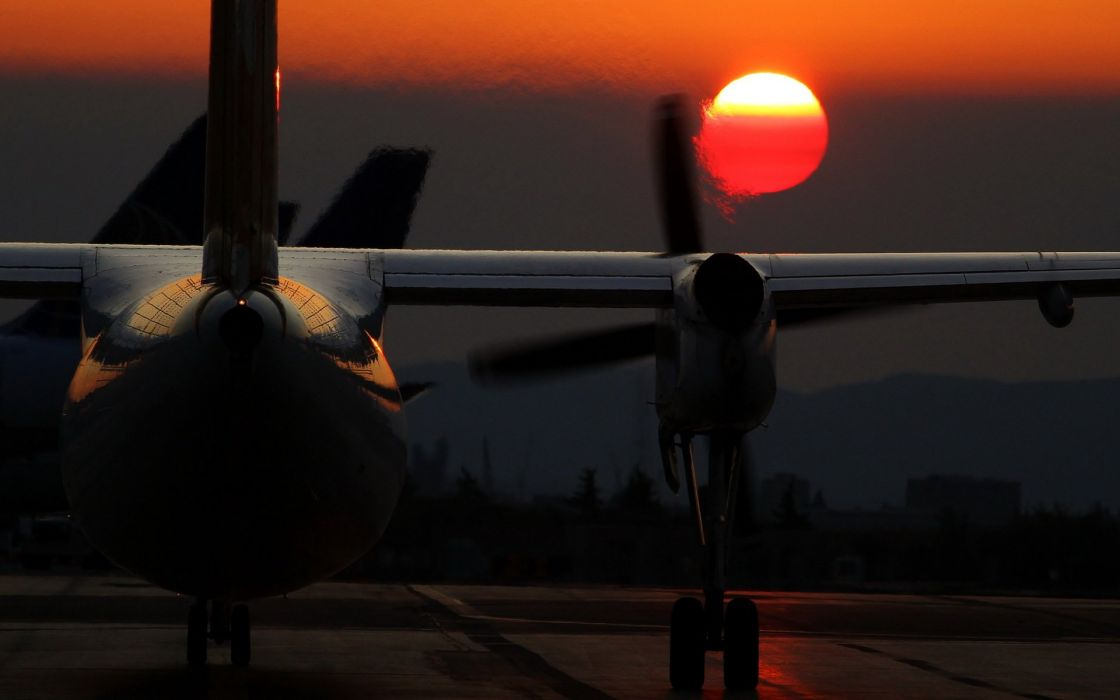 Aircraft Aircrafts Airplane Jet Fly Sunset Sun Photography Cars Vehicles wallpaper