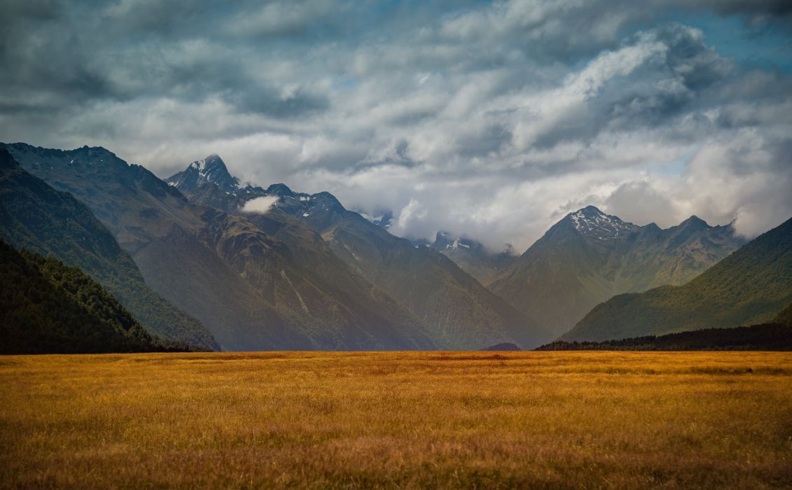 Southern Alps Zealand Island Milford Retina Valley Nature wallpaper