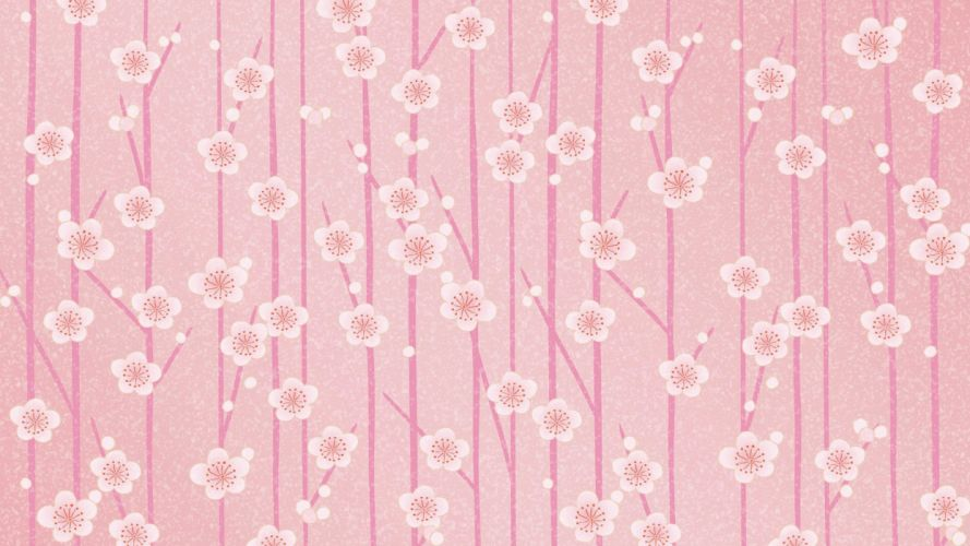Simple and fresh texture flower wallpaper