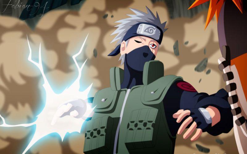 Naruto Kakashi anime series character guy wallpaper