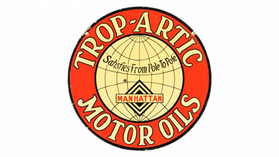 classic garage GASOLINE MOTOR OIL SIGN road art service wallpaper