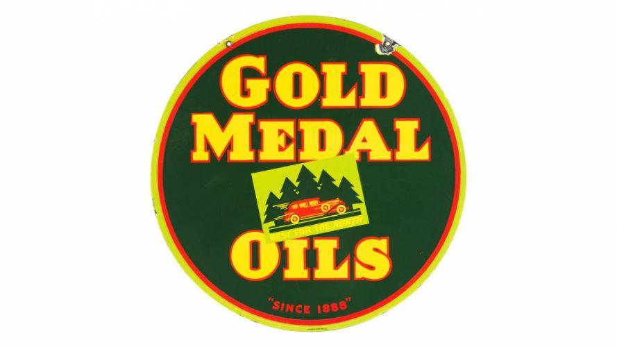classic garage GASOLINE MOTOR OIL SIGN road art service wallpaper