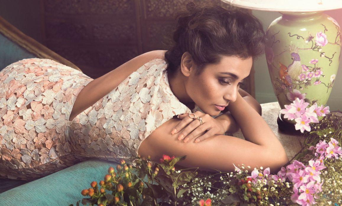 rani mukerji bollywood actress model girl beautiful brunette pretty cute beauty sexy hot pose face eyes hair lips smile figure indian  wallpaper