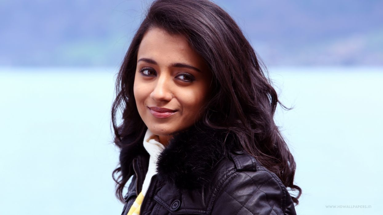 trisha bollywood actress model girl beautiful brunette pretty cute beauty sexy hot pose face eyes hair lips smile figure indian  wallpaper